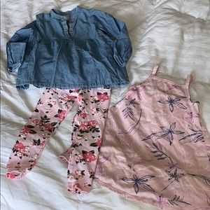 Carter's two-piece toddler outfit/Old Navy  dress